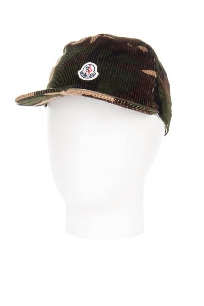 MONCLER Corduroy Camouflage Cap