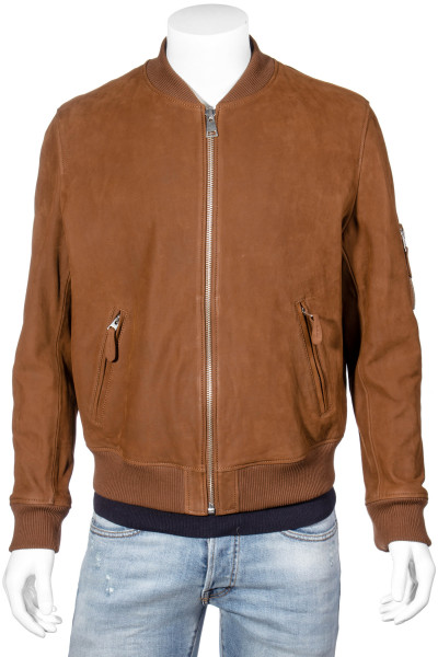 THE KOOPLES Leather Bomber Jacket