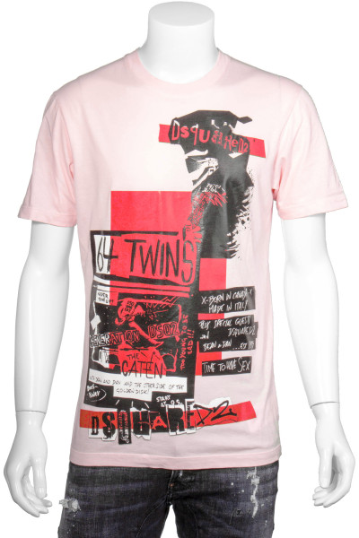 DSQUARED2 Printed T-Shirt 64 Twins