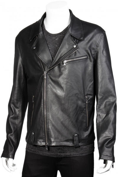 JOHN VARVATOS Coated Biker Jacket