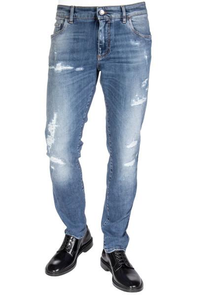 DOLCE & GABBANA Slim Jeans Distressed