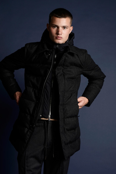 HERNO Hooded Wool Down Parka