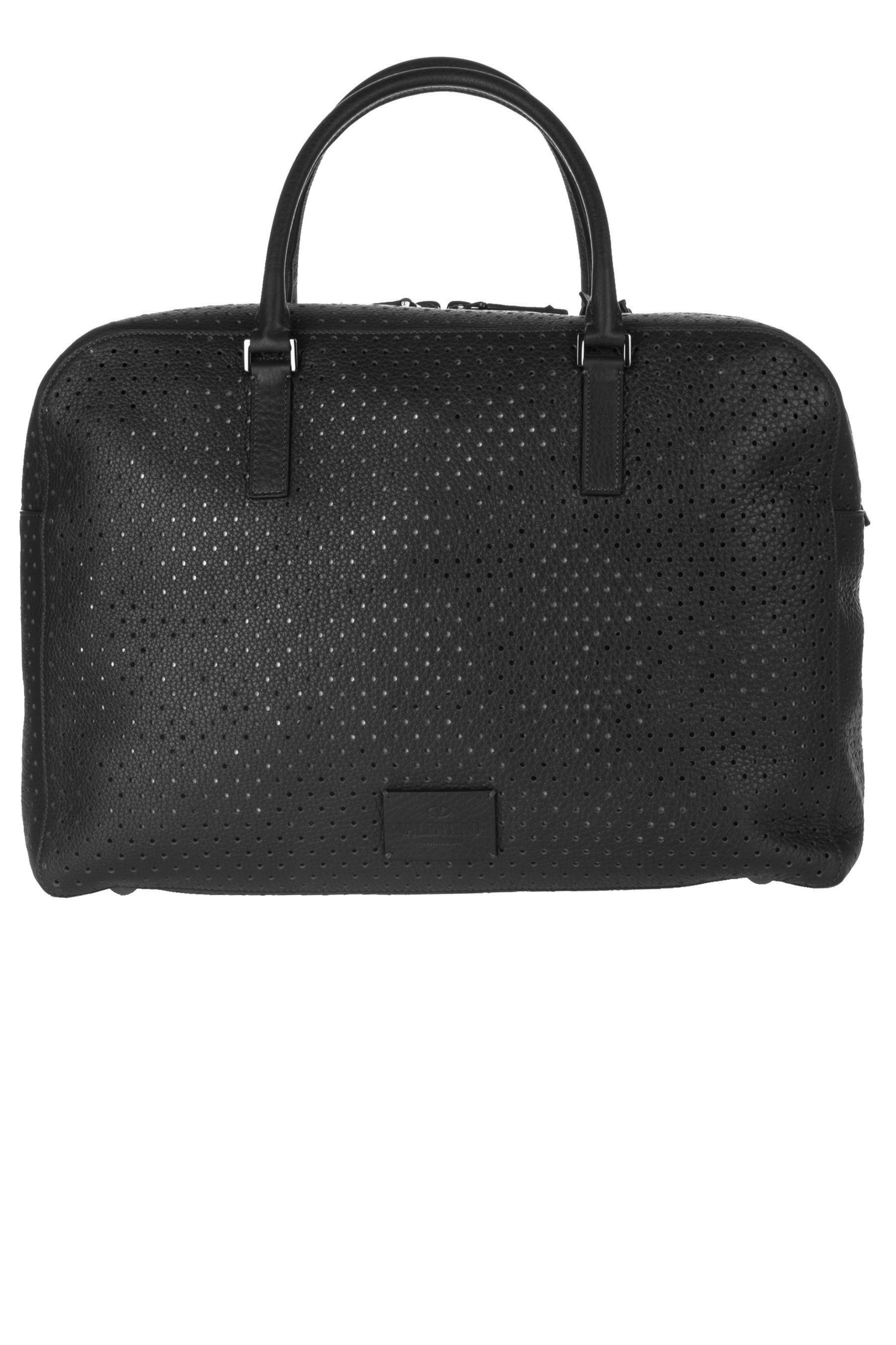 3ef51ddf34 VALENTINO GARAVANI Perforated Leather Briefcase | Bags | Bags ...