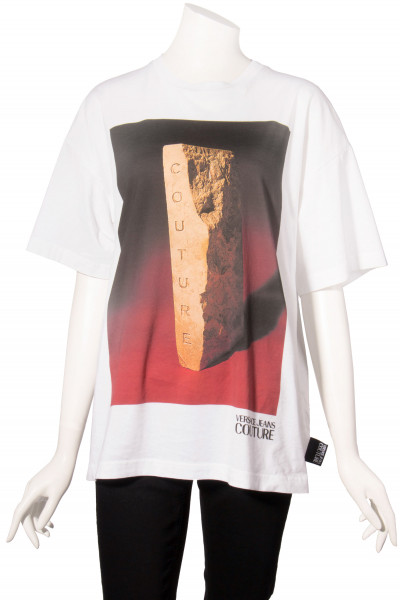VERSACE JEANS COUTURE Capsule T-Shirt Gold Bar Print