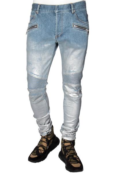 BALMAIN Biker Jeans Slim Fit Fade Wash