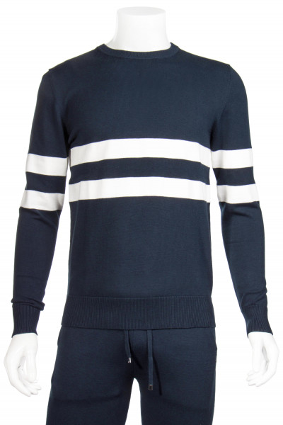 RON DORFF Striped Knit Sweater