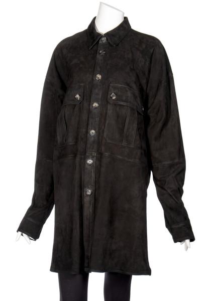 FAITH CONNEXION Oversized Leather Blouse