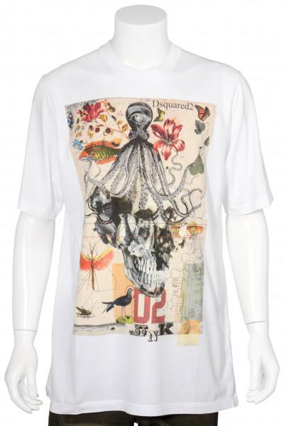 DSQUARED2 Oversized T-Shirt Skull Print