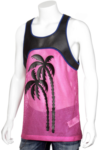DSQUARED2 Tank Top Mesh Leather Palms