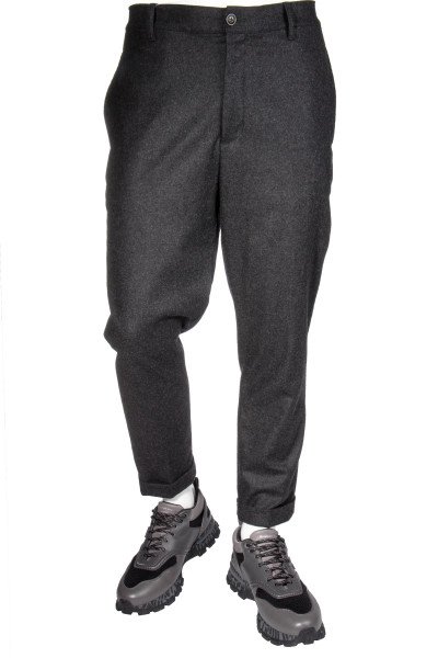 WOOLRICH Cuffed Wool Pants Wopan