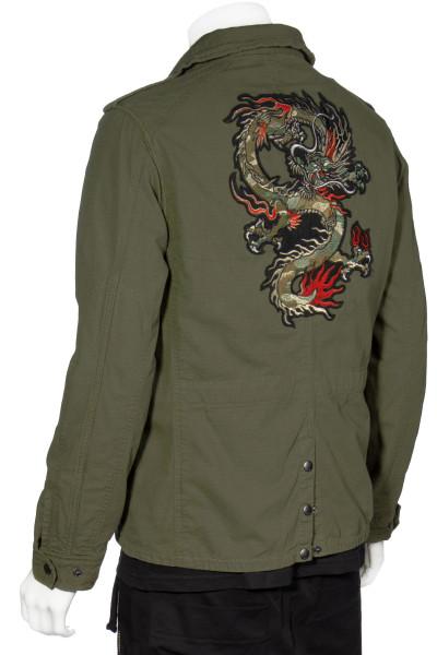 JOHN VARVATOS Field Jacket Dragon Patch