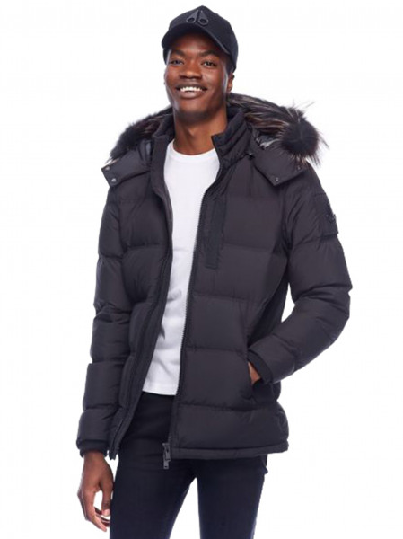 MOOSE KNUCKLES Hooded 3Q Down Jacket