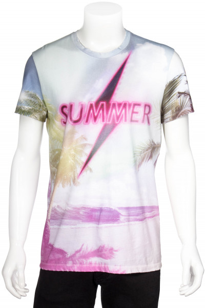 BALMAIN Distressed T-Shirt Summer Print
