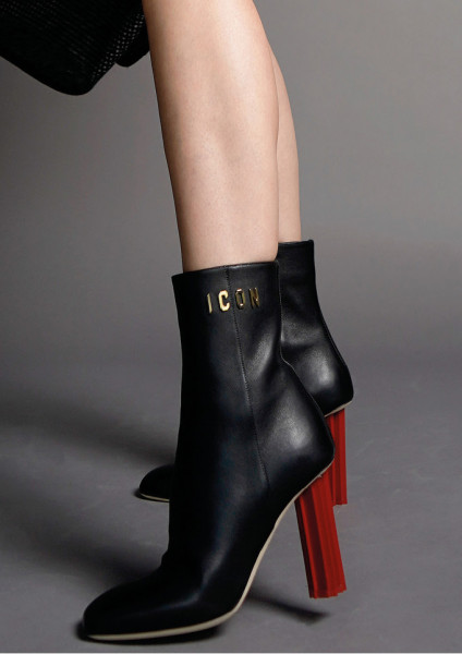 DSQUARED2 Leaf Heeled Ancle Boots