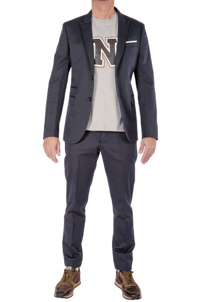 NEIL BARRETT Suit With Pocket Square