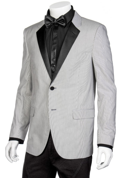 SAINT LAURENT Striped Tuxedo Jacket