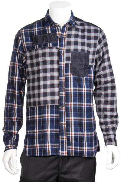 LANVIN Patchwork Shirt Checked