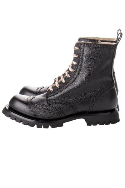 GUCCI Brogue Lace-Up Boot