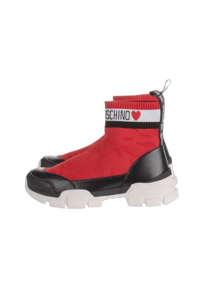 LOVE MOSCHINO High Sock Sneakers Logo