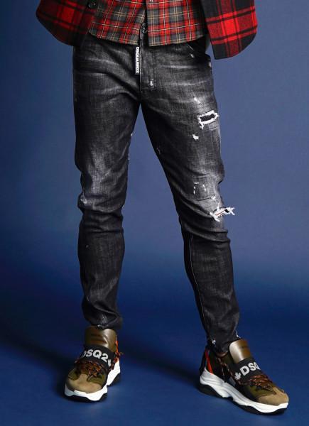 DSQUARED2 Classic Kenny Twist Jeans Black Wash