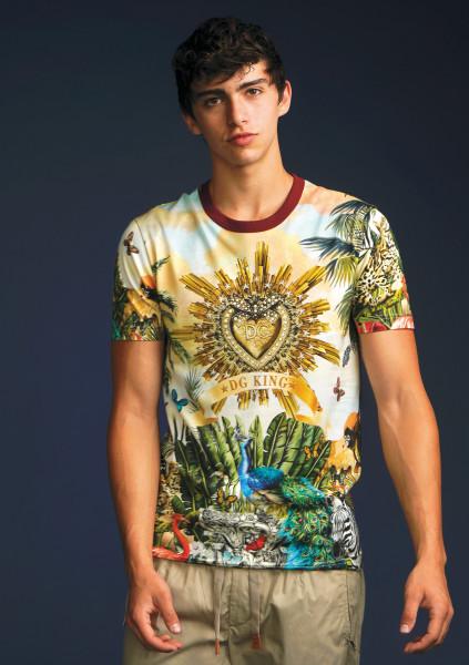DOLCE & GABBANA T-Shirt Tropical DG King Print