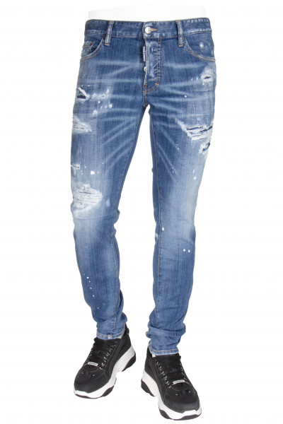 DSQUARED2 Slim Jeans Ripped White Spots