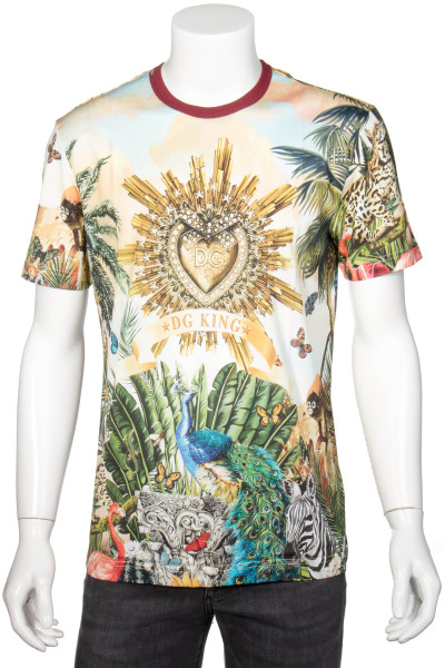 DOLCE & GABBANA T-Shirt Tropical DG King Print