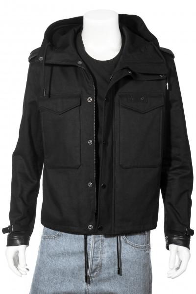 SAINT LAURENT Hooded Jacket Leather Details