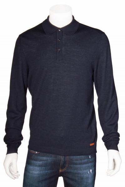 BALDESSARINI Longsleeve Cashmere Polo Shirt
