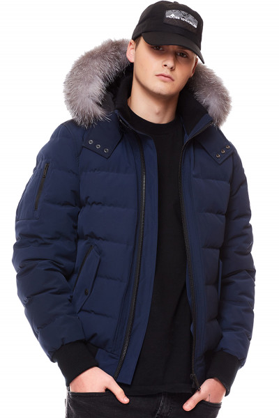 MOOSE KNUCKLES Hooded Down Bomber Scotchtown