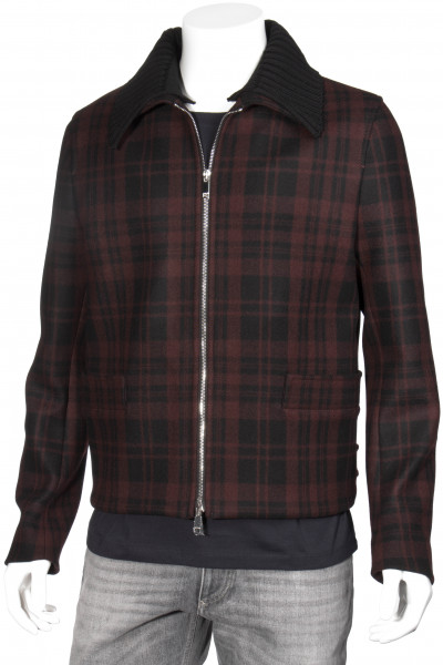 VALENTINO Wool Blend Jacket Checked