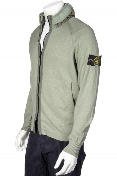 STONE ISLAND Knit Jacket Packable Hood