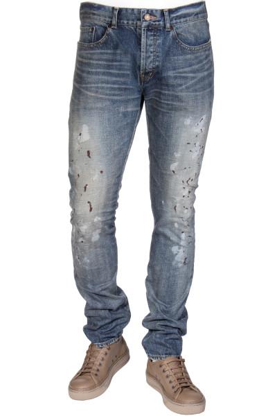 SAINT LAURENT Jeans Slim Low Waist Splashes