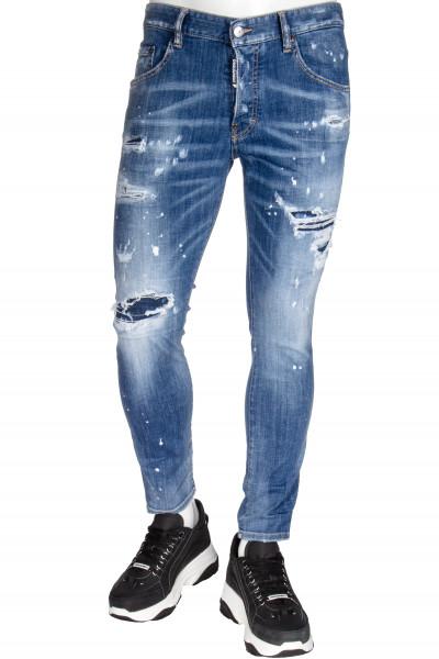 DSQUARED2 Skater Jeans Ripped White Splots