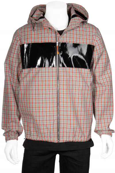 HELMUT LANG Hooded Jacket Checked