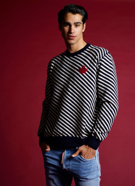 DSQUARED2 Wool Blend Sweater Stripes