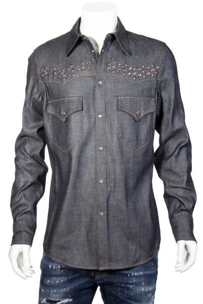 DSQUARED2 Denim Studs Shirt