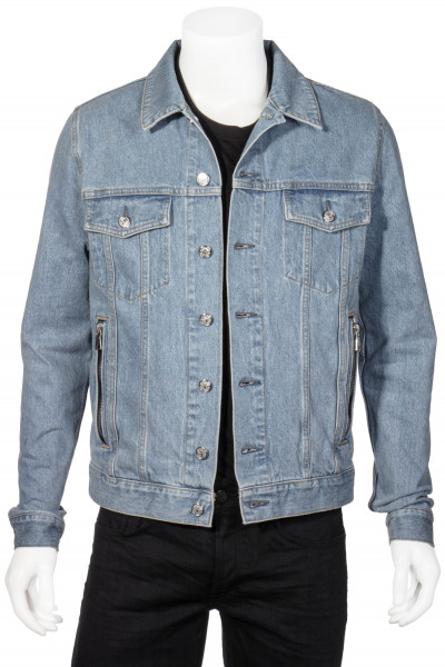 BALMAIN Medallion Embroidered Denim Jacket
