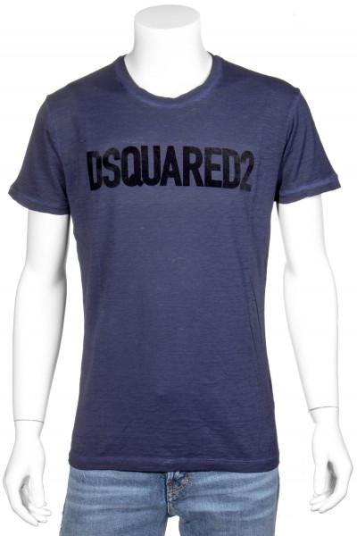 DSQUARED2 Printed T-Shirt Logo Flock Print