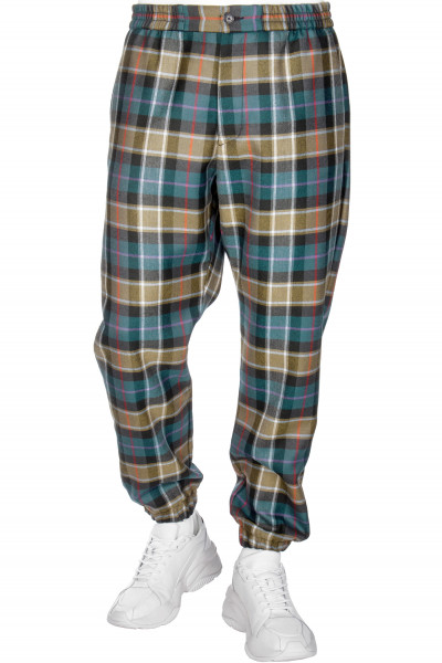 ETRO Wool Pants Checked