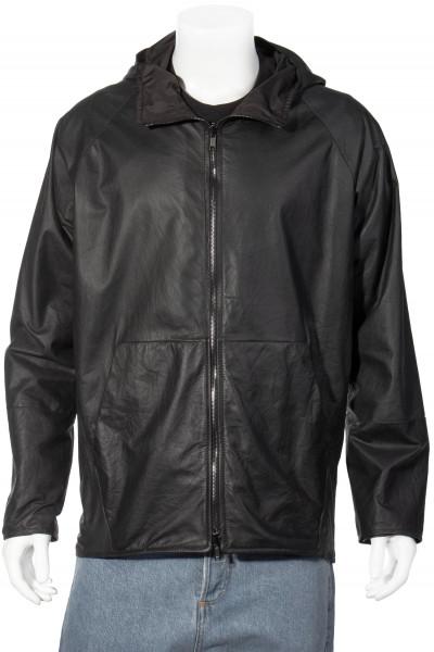 SALVATORE SANTORO Reversible Hooded Leather Jacket