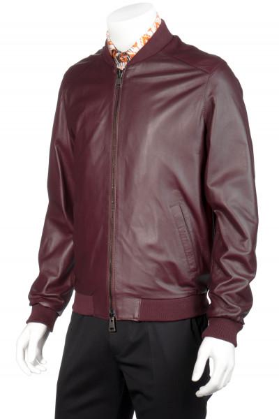 ETRO Leather Bomber Jacket