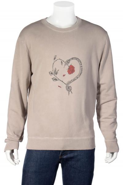SAINT LAURENT Snake Heart Print Sweater
