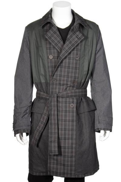 MAISON FLANEUR Double Breasted Coat Checked