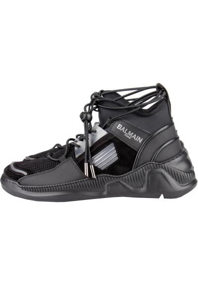 BALMAIN Mid Top Mesh Sneakers