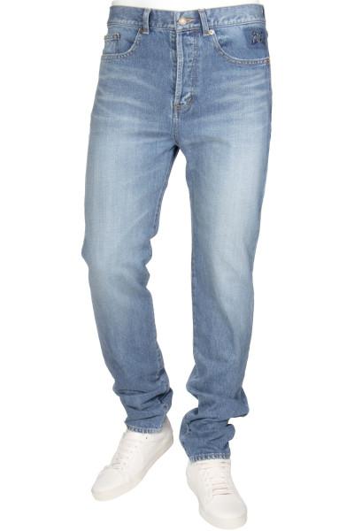 SAINT LAURENT Jeans Slim Low Waist Embroidered SL Detail
