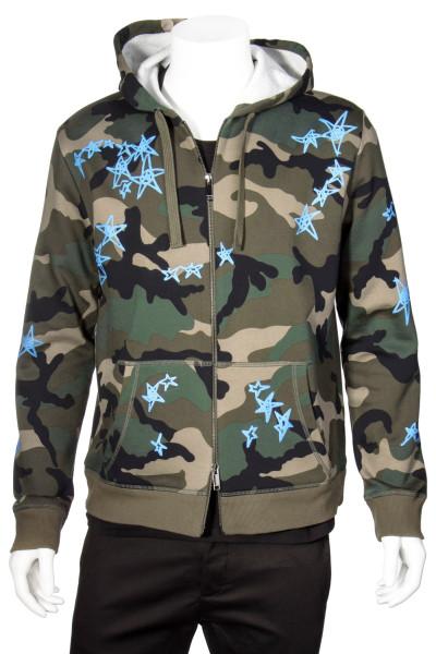 VALENTINO x Zandra Rhodes Hooded Camouflage Sweater
