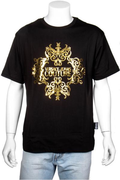 VERSACE JEANS COUTURE T-Shirt Gold Foil Print