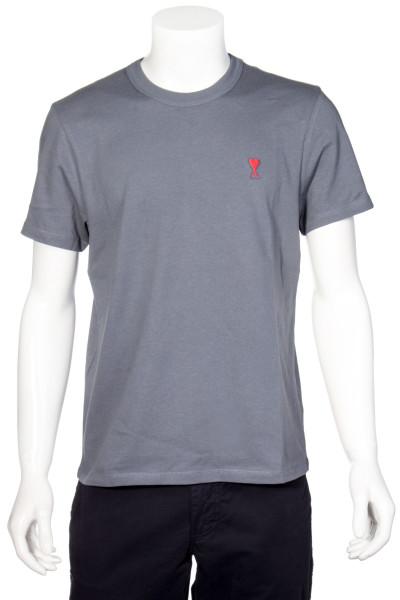 AMI Logo T-Shirt Steel Blue