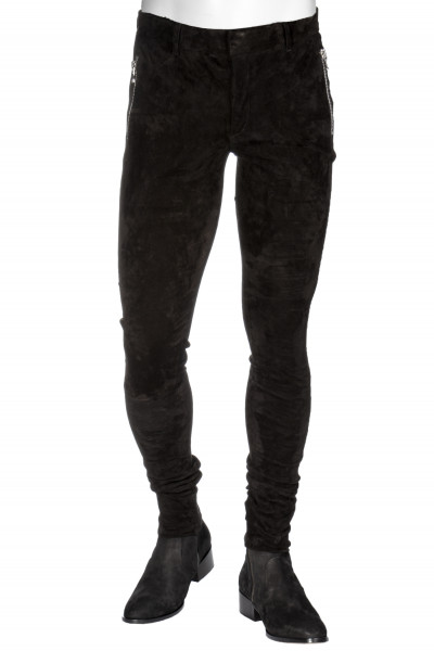 BALMAIN Slim-Fit Leather Trousers